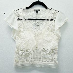 Express Crop Crochet Top